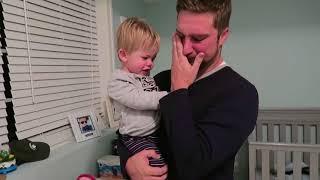 Wife Tells Husband Pregnancy News on Toddler's Pajama Shirt - 985700