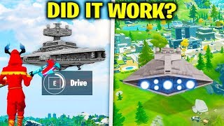I Tried FLYING The Star Wars Ship.. (Fortnite)