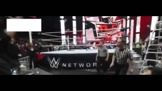 Roman Reigns Attacks Triple h    TLC 2015