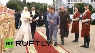 أول زيارة رسمية للملك الأردني عبدالله الثاني الى جمهورية الشيشان الروسية