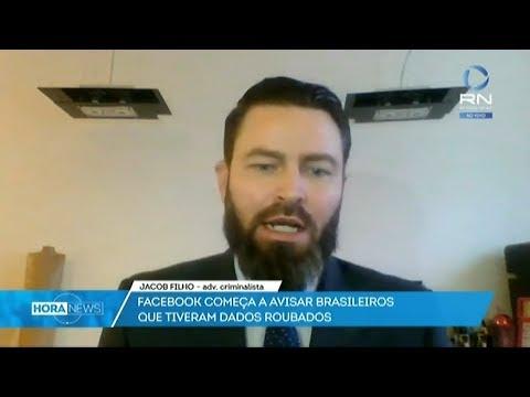 O advogado Jacob Filho falou ao vivo na Record News sobre a invasão de contas dos usuários do Facebo