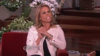 Cheryl Hines showing her pierced belly button