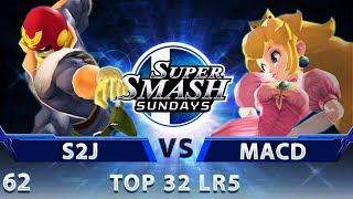 SSS 62 - Tempo | S2J (Falcon) vs. SPY | MacD (Peach) - SSBM Top 32 LR5 - Smash Melee