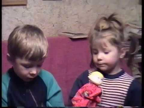 Дома  Коля и Лена  27 03 1996