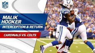Rookie Malik Hooker's Jumping INT & Big Return! | Cardinals vs. Colts | NFL Wk 2 Highlights