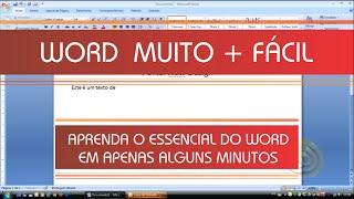 Word - Aprenda Rápido Word - Excel e Power Point -- Vídeo 1/3