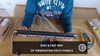 Terminating Patch Panel - How to do it fast and easy