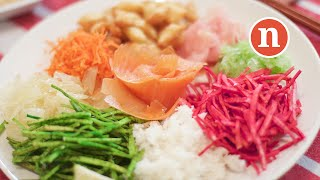 Prosperity Toss with Salmon | Yusheng | Yu Sang | Yee Sang | 鱼生 [Nyonya Cooking]