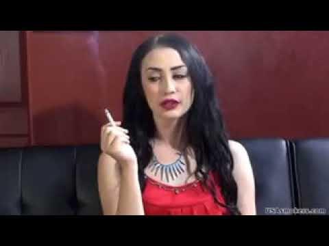 Girl smoking cigarettes heavy smoker