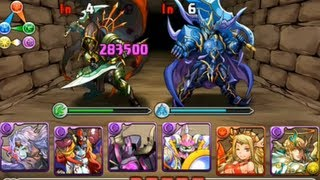 Puzzle & Dragons, Two Heroes Descended. Vampire Lord Dark beginner team! 100% Farmable team!