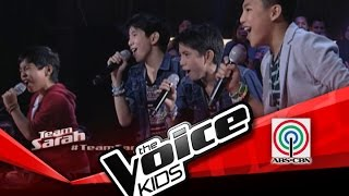 """The Voice Kids Philippines Battles """"What Makes You Beautiful"""" by Jm and Jc, Sam, and Darren"""
