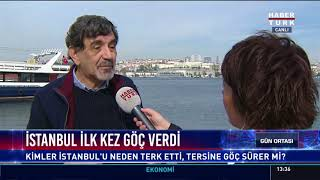 İstanbul ilk kez göç verdi