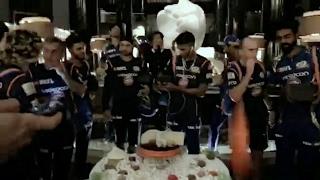 Mumbai Indians Win IPL 2017. Full celebration in hotel. After winning celebrations