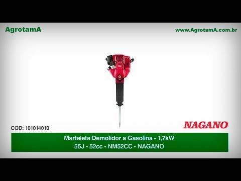 Martelete Demolidor a Gasolina 1.7kw 55J 52cc - NM52CC - Nagano