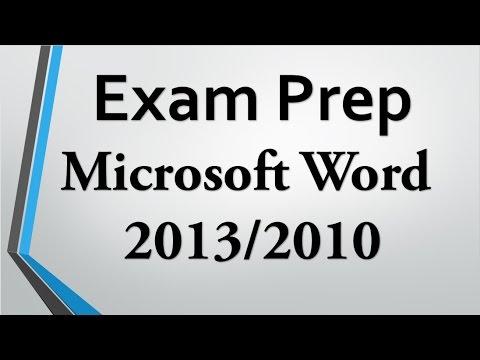 Exam Prep Word 2016 2013 2010