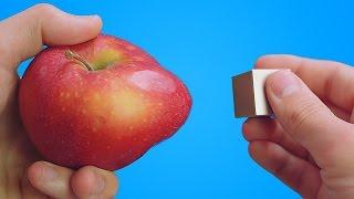 هل تعلم ماذا سيحدث إذا وضعت مغناطيس بجانب  تفاحة ..؟!!