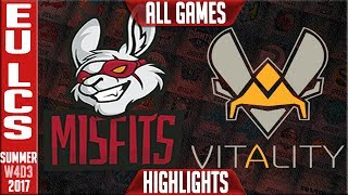 Misfits vs Vitality Highlights ALL GAMES | EU LCS Week 4 Summer 2017 | MF vs VIT