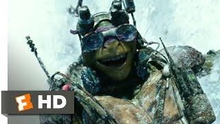 Teenage Mutant Ninja Turtles (2014) - Snow Mountain Chase Scene (6/10) | Movieclips