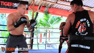 UFC Welterweight Champion Georges St-Pierre (GSP) Trains @ Tiger Muay Thai & MMA
