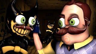 Hello Neighbor Vs Ink Bendy Animation Movie Hello Bendy Chapter 4
