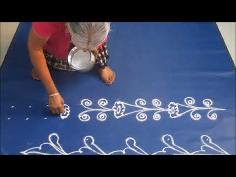 Border  kolam  designs 3 - Border Kolam with dots
