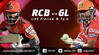 Live IPL T20 Cricket : Royal Challengers Bangalore vs Gujarat Lions match preview Cric Gully
