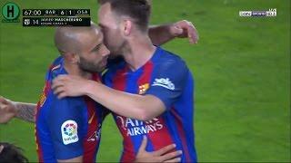 اهداف مبارة برشلونة و أوساسونا   | 7-1  | الدوري الإسباني |  26-4-2017