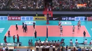 مسابقه والیبال  بانوان ایران - چین در بازیهای قهرمانی آسیا ۲۰۱۵