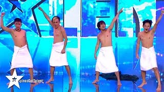 BOYS IN TOWELS on Pilipinas Got Talent 2018 | Got Talent Global
