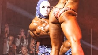 Kai Greene posing with Dana Linn Bailey Couple pose