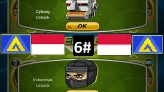 Head Soccer - How to Unlock Indonesia and Cyborg 6#