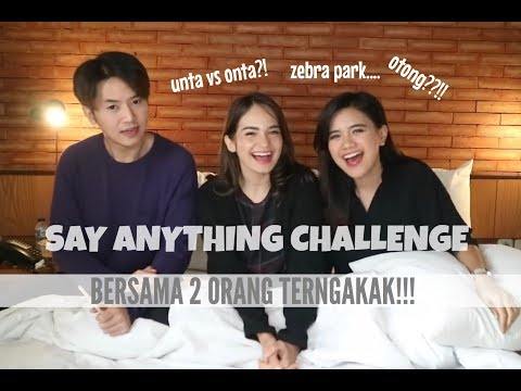 [AVLOG] - NGAKAK ABIS!! Say Anything Challenge! with Enzy & Rafael.