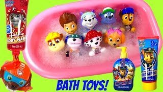 Paw Patrol Bath Toys Soap Shampoo and Bubbles! Bath Squirters & Paddling Pups