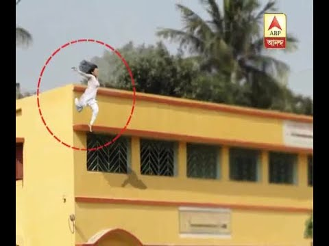Girl Student tried to commit suicide by jumping from 2nd floor as she was suffering from d