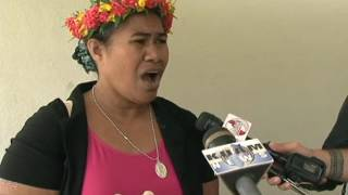 Chuukese community peacefully protests against treatment