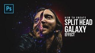 How to Create Split Head Galaxy Manipulation in Photoshop - #Photoshop Tutorials