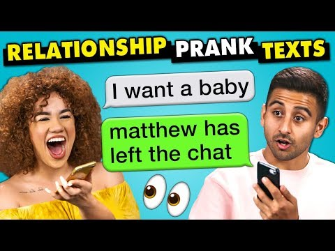 10 Funniest Relationship Prank Texts The 10s React