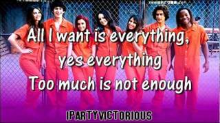Victorious Cast - All I Want is Everything + Lyrics (Locked Up)