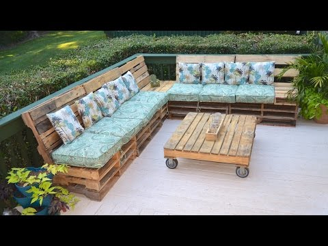 Pallet Couch Pallet Sofa the Tarrou Way, Time Stamps in Description