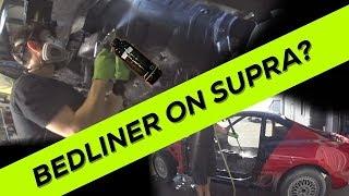 Pt.18 MKIV Toyota Supra Build | It gets BEDLINER! - DIY Raptor Liner as Undercoating!