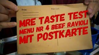 MRE Menü Nr. 3 Beef Ravioli | MRE mit Postkarte | MRE Taste Test