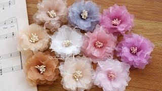 DIY Organza Flower | Organza Fabric Flower Tutorial