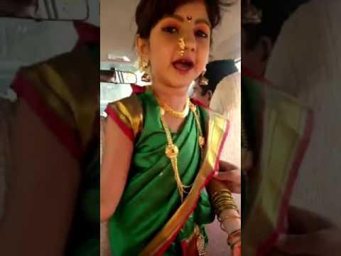 Little girl to so nice Marathi mhani speak