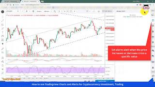 How to use Tradingview Charts and Alerts for Bitcoin Investment, Cryptocurrency Trading