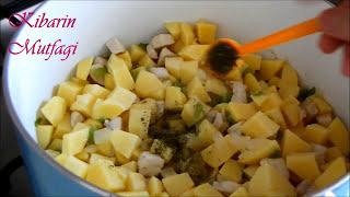 Tavuk etli patates yemeği nasıl yapılır - Etli patates yemeği tarifi - Sulu yemek tarifleri