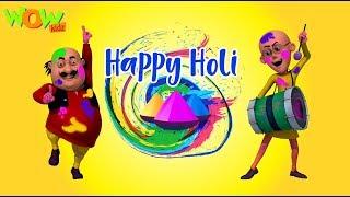 HOLI special with Motu Patlu   Holi Hai Bhai Holi Hai   Wow Kidz