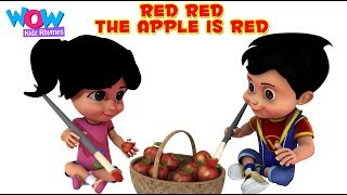 The Apple is Red (Colors song) with Vir: The Robot Boy - Play & Learn Colours, Babies and kids songs