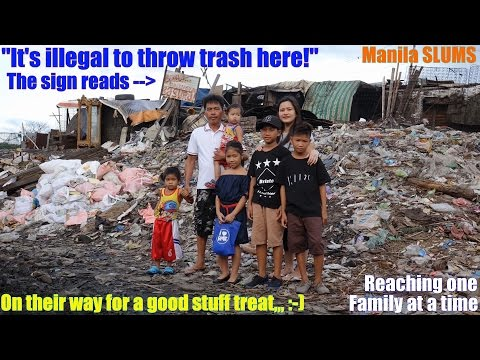 Travel to Manila Philippines and Meet this Poor Filipino Child. A Poor Filipino Living in Poverty