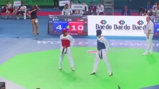 محمد إقبال ضد أحمد أبوغوش في بطولة العالم للتايكواندو HD