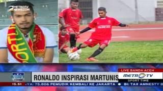 Metro TV - Wawancara Martunis terkait pelatihan di Sporting & Ronaldo
